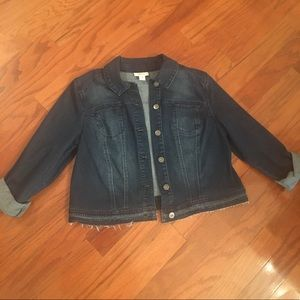 Women's XL Style & Co jean jacket EUC